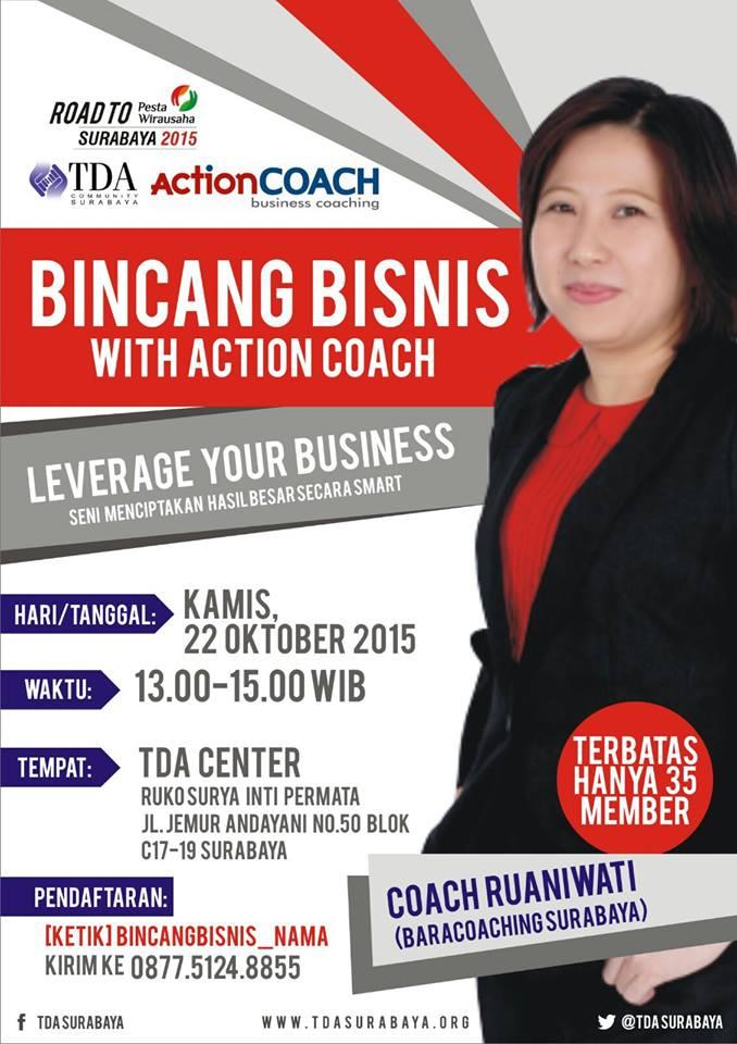 Bincang Bisnis TDA Surabaya Bersama ActionCOACH