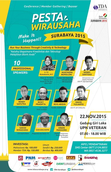 Pesta Wirausaha Surabaya 2015 – Make It Happen..!