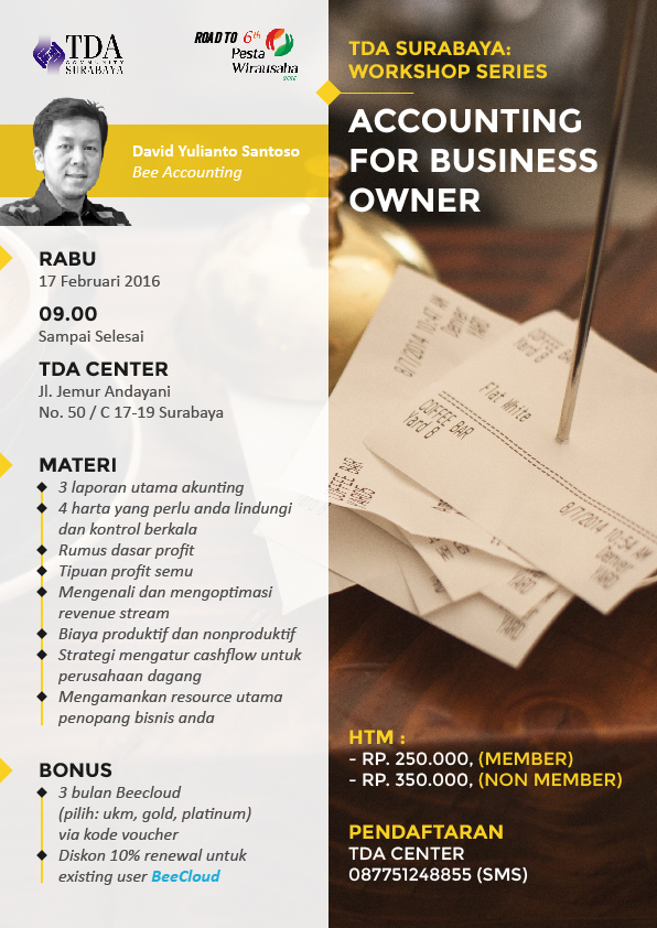 TDA Class – Accounting for Business Owner