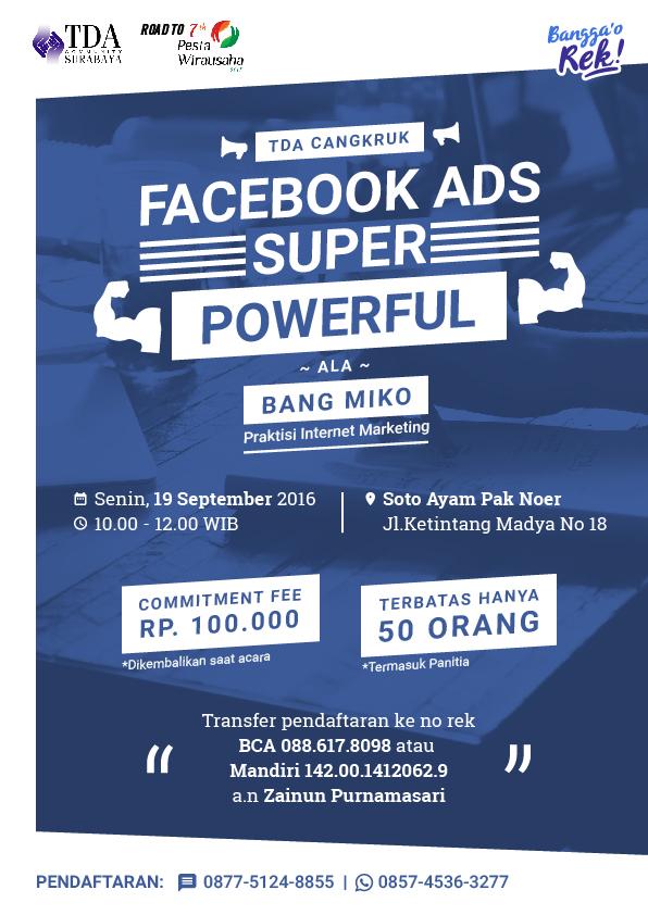 TDA Cangkruk – Facebook Ads Ala Bang Miko