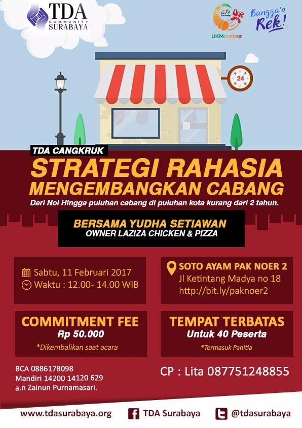 TDA Cangkruk Surabaya Strategi Rahasia Mengembangkan Cabang Bersama Yudha Setiawan
