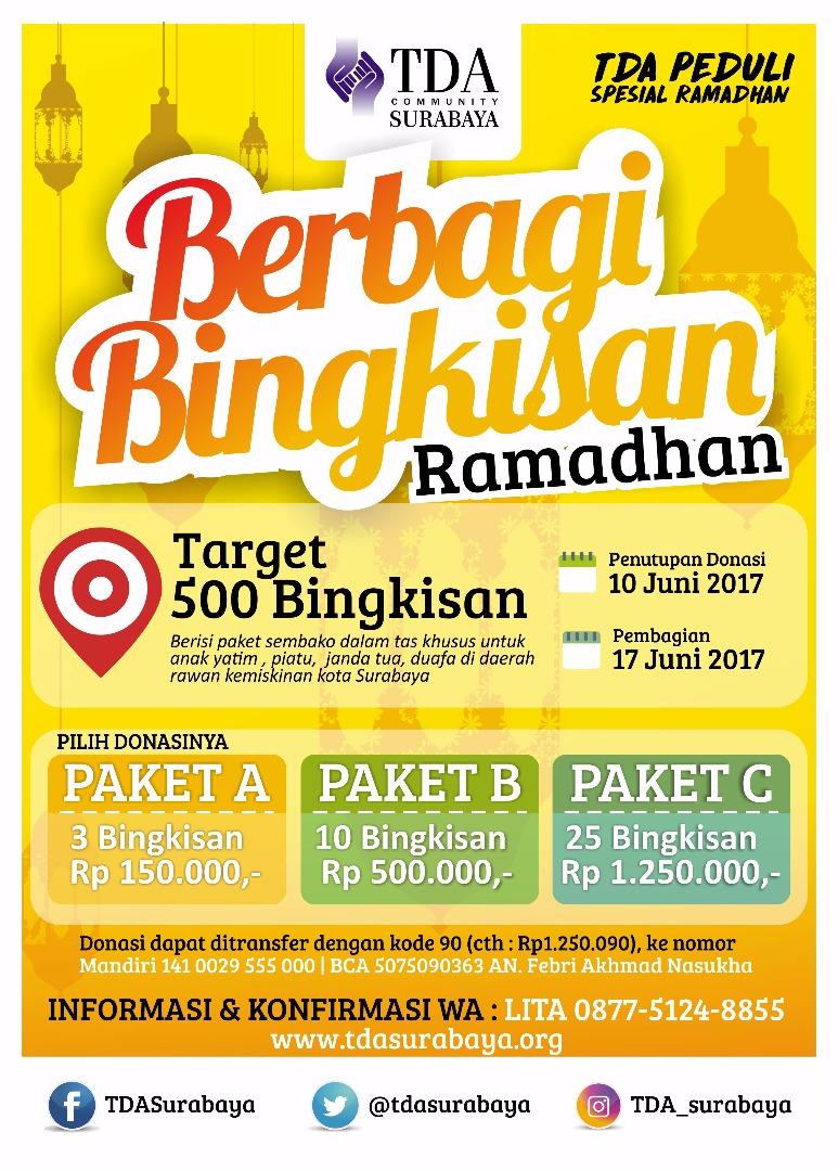 TDA Peduli Spesial Ramadhan – Berbagi Bingkisan Ramadhan