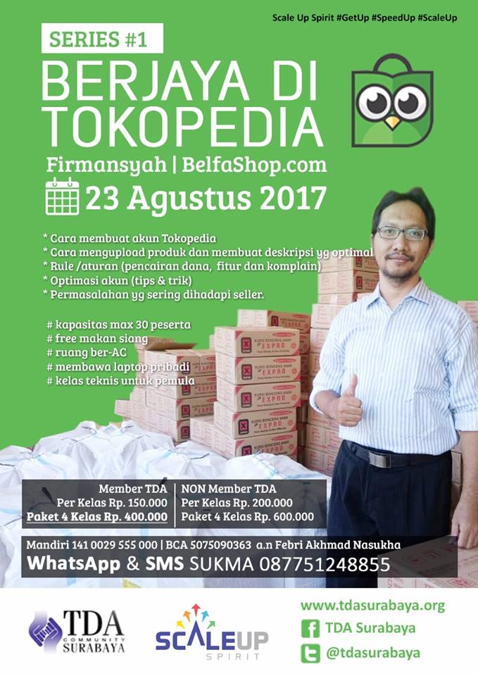 TDA Class Workshop Series – Sukses Berjaya di Tokopedia