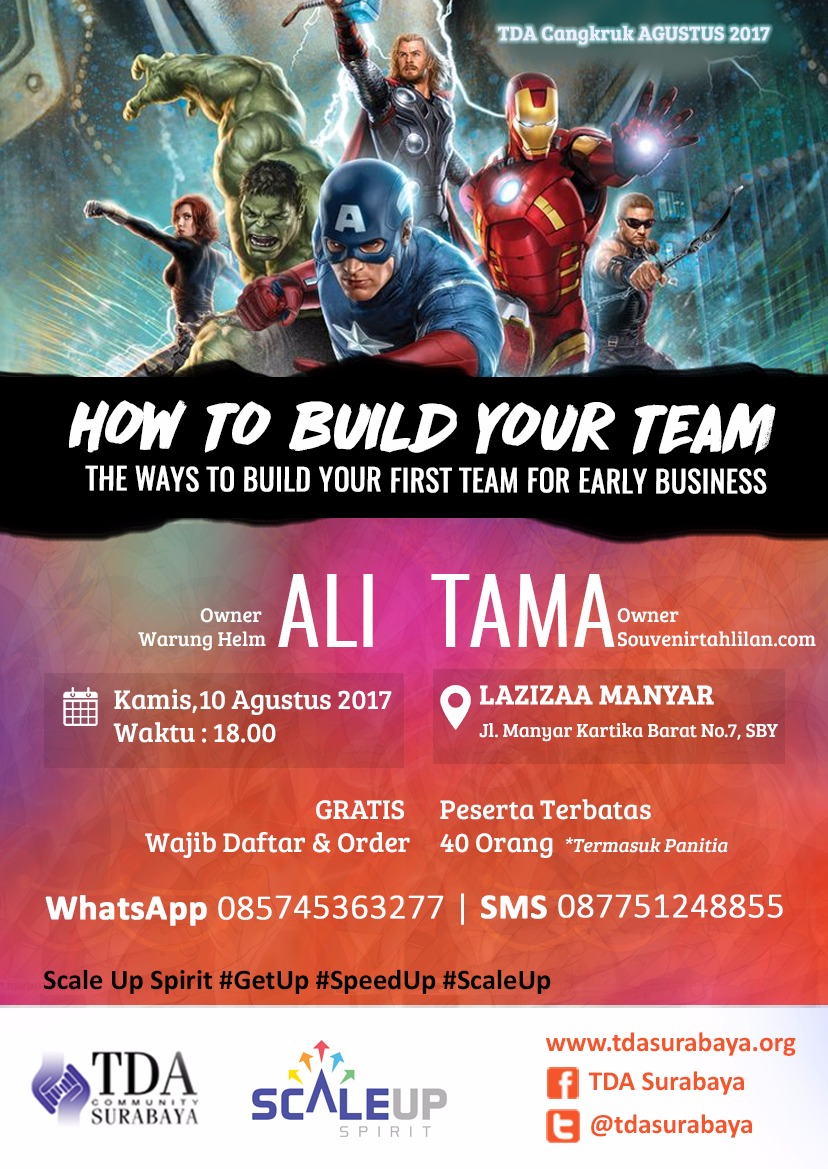 "TDA Cangkruk ""How to Build Your Team : The Ways to Build Your First Team for Early Business"""