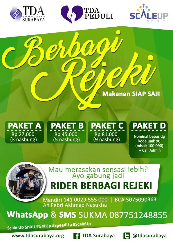 TDA Peduli oleh TDA Surabaya Minggu Ke-3 20 September 2017