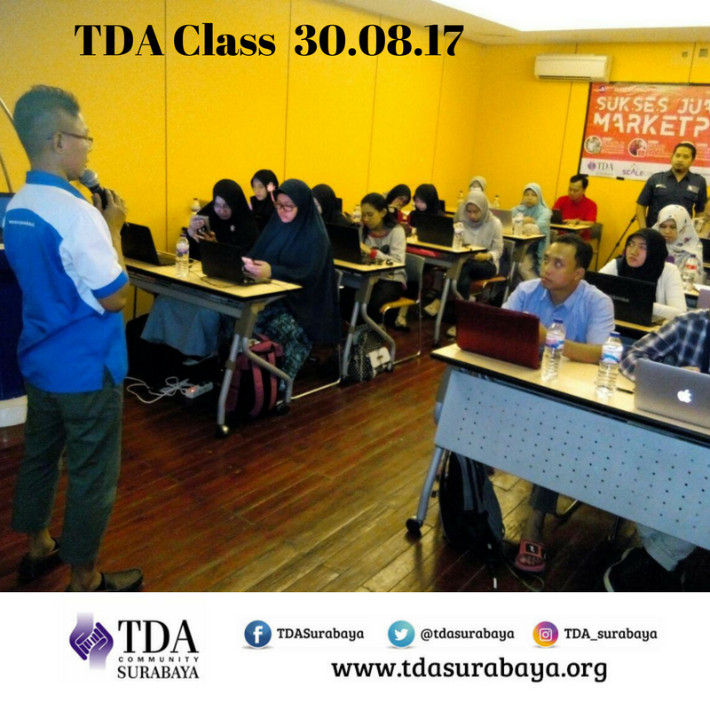 "TDA Class – Workshop Series ""Sukses Jualan di Marketplace: Merajai Shopee"" by Edi ""Simon"""