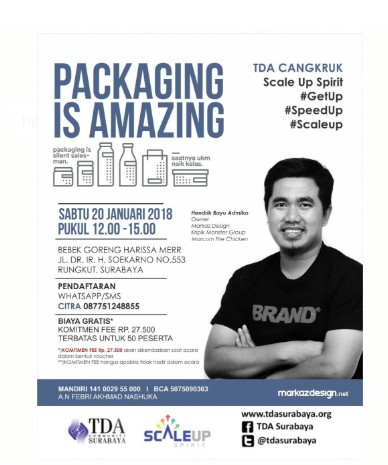 """TDA CANGKRUK – """"PACKAGING IS AMAZING"""""""