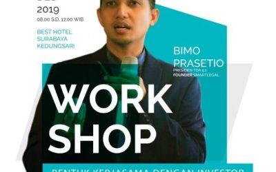 Workshop 8WS Series Bentuk kerjasama dengan investor