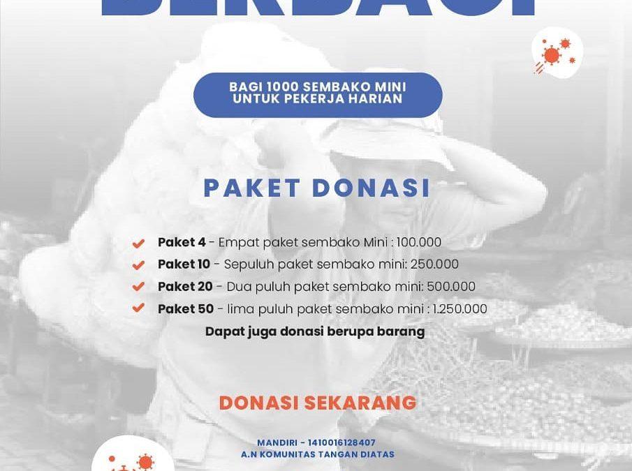 TDA Peduli Berbagi 1000 Sembako mini Untuk Pejuang Nafkah